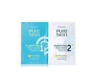 1 Clarifying Face Scrub & 2 Purifying Mask