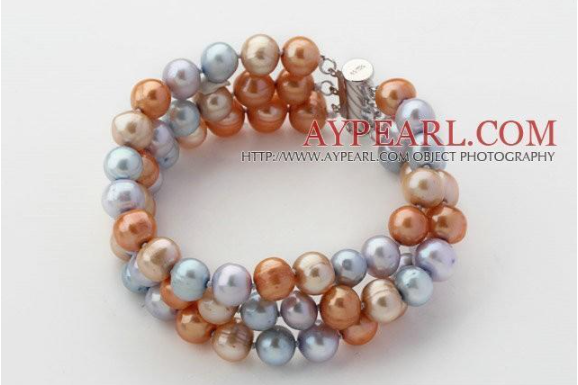 gray-blue-and-golden-color-freshwater-pearl-beaded-bracelet-big-0