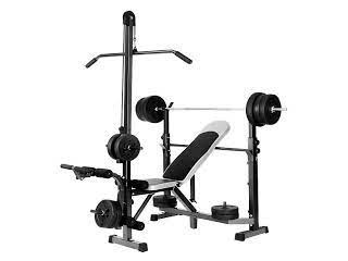 Multi functional weight bench with lat pull down