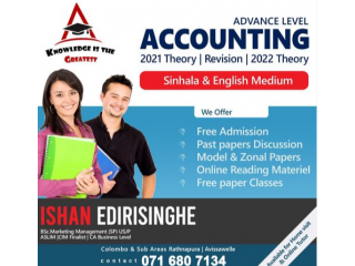 2020 A/L Accounting Online Theory+Paper Class Seminar