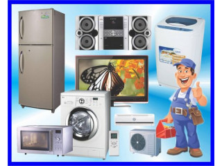 Home visited repair for Tv, led, lcd, dvd, fridge, micro oven, washing mlachine