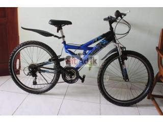 Raleigh dual suspension 18 speed mountain bike