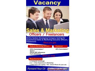 Sales & Marketing Officers/Freelancers - Offered