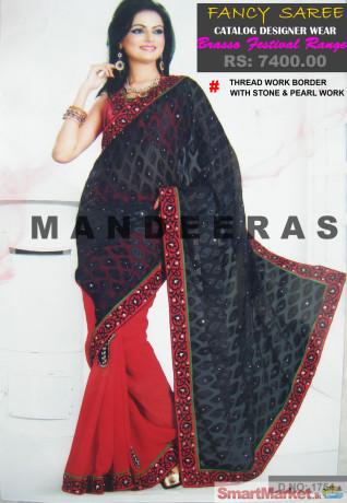 black-red-festival-brasso-range-sarees-for-sale-big-0