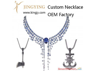 Custom necklace gold plated silver jewelry supplier and wholesaler - For Sale