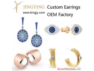 Custom earrings gold plated silver jewelry supplier and wholesaler - For Sale