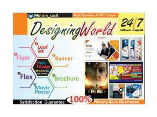 Flyer, Banner, Brochure & Poster Designing
