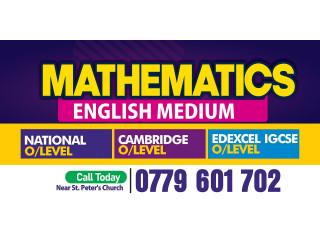 ගණිතය Mathematics Tuition Home Visits